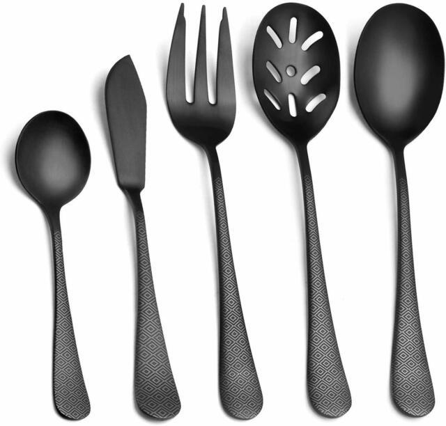 Elegant Stainless Steel Silver 7 piece kitchen utensil set