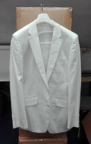 Homme costume blanc veste en coton-Taille 36 L-Bon état