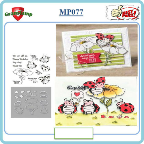 MP077 LITTLE LADYBUG Metal Cutting Dies and Stamps