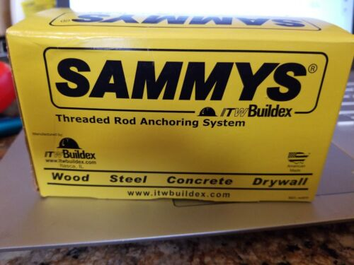 """Sammy's Box of 25  1"""" Vertical 1//4"""" Threaded Rod Anchor for Wood"""