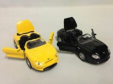 """2 Pcs of Ford Mustang MACH III, 5"""" Diecast 1:36 Pull Back Action Toy Yellow Blak"""