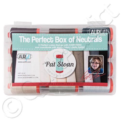 The Perfect Box of Neutrals Pat Sloan 12pc 1422yds Cotton Aurifil Thread Set