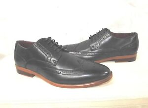 d9fc16a40180d Bonafini Mens Lace Up Wing Tip Oxfords Dress Shoes Navy Size 7.5 | eBay