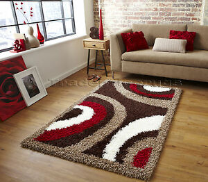 Small extra large brown cream beige red modern pattern for Cream and red rugs