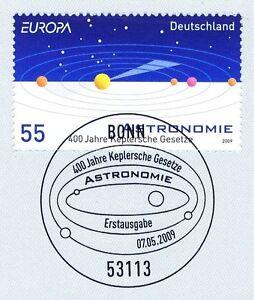 GéNéReuse Rfa 2009: Keplersche Lois Nº 2732 Avec Le Bonner Ersttags-cachet Spécial! 1a!-rstempel! 1a!fr-fr Afficher Le Titre D'origine Vif Et Grand Dans Le Style