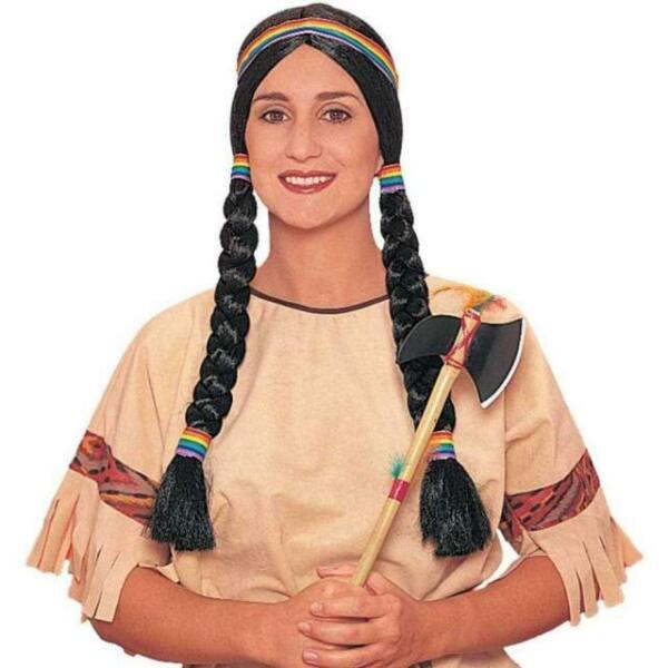 24571 Black Native American Squaw Wig Goddessey