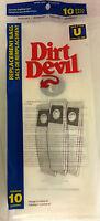 10 Vacuum Bags Genuine Dirt Devil Royal Type U For Upright. Part 3920048001