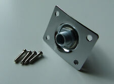 Curved oblong jack plate & socket for Tele Tele / Les Paul / SG / Squier guitar