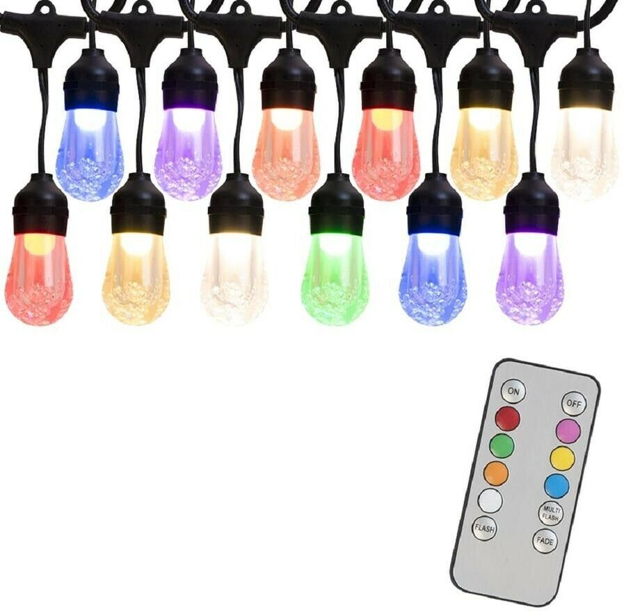 Portfolio 24-ft 12-plug-in de luz Bombillas Cadena De Luces Residencial Comercial