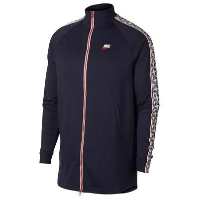cfad99f4f Nike Sportwear Men's Obsidian/Red/Sail Taped Track Jacket AJ2681-451  S/M/L/XL/XX | eBay