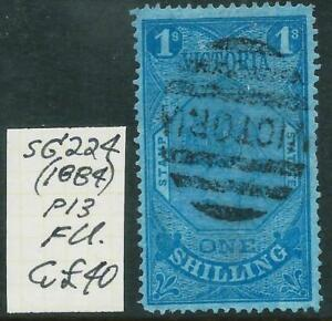 VICTORIA-1884-1-039-BLUE-039-Stamp-Duty-Postally-Used-SG-224-GU-Cv-40-8244