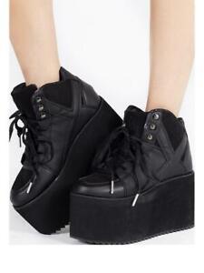 Yru Qozmo Rave Noires Hi Emo Punk Kawaii Gothique Plateformes Chaussures Baskets sQrdhxtC
