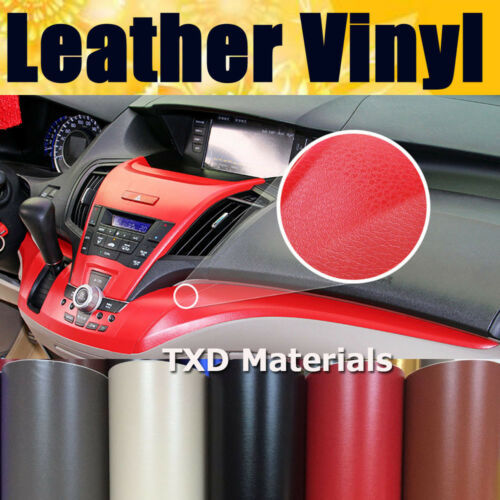7 Color Grain Leather Pattern Vinyl Film Sticker Car Interior Wrap Sheet Decal