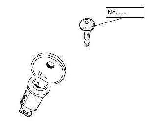 One Key System N151 Ersatzschloss Schlüssel