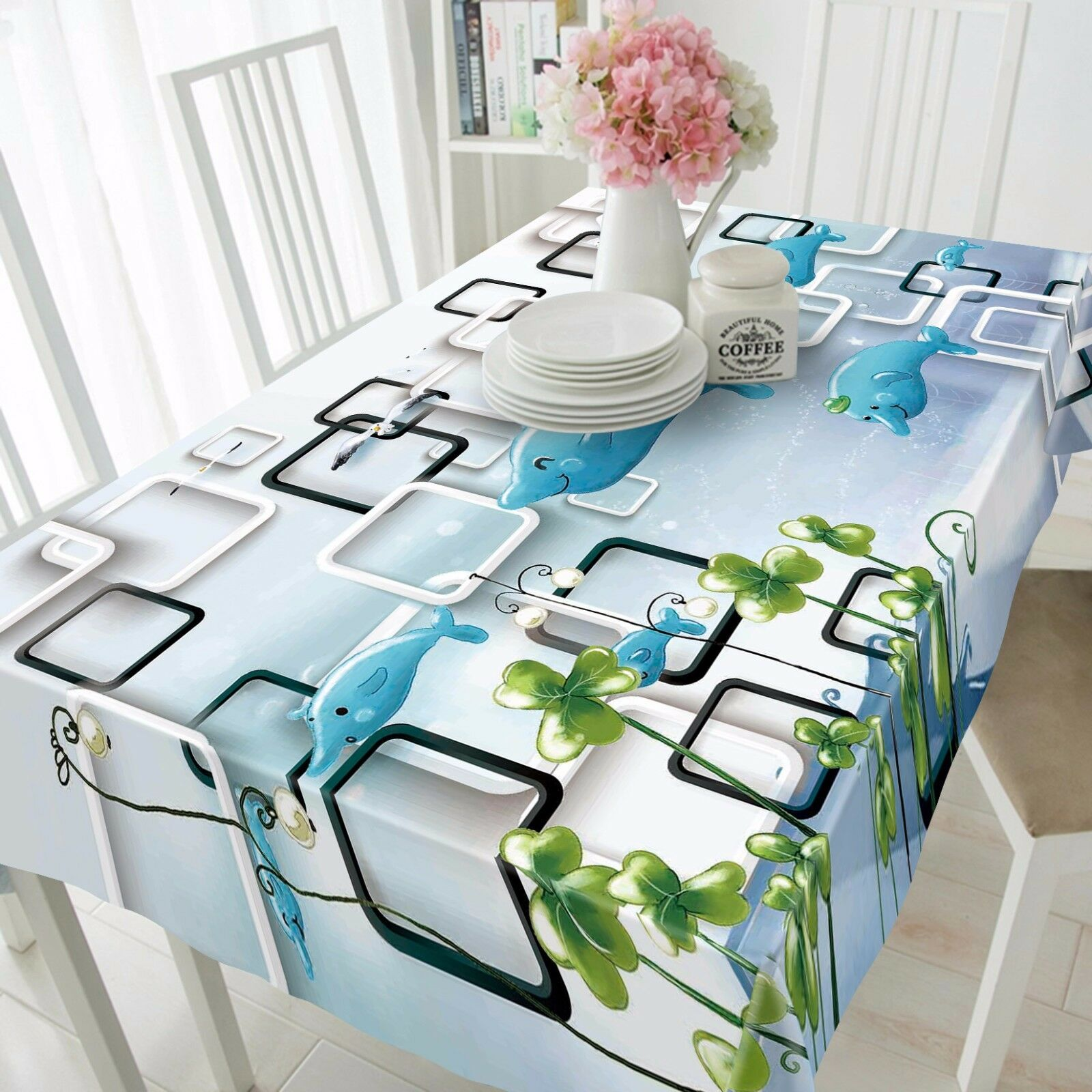 3D Dolphin 778 Tablecloth Table Cover Cloth Birthday Party Event AJ WALLPAPER UK