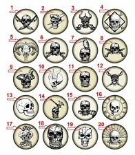 """1.25"""" Pinback Button Badge Pirate Skull (1¼"""" Pins Approx. 32mm) BUY 2 GET 2 FREE"""