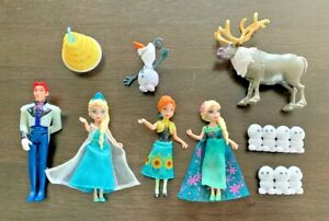 Disney-FROZEN-Mini-Figure-Play-Set-Cake-Topper-Olaf-Sven-Hans-Elsa-Anna-Cake-etc
