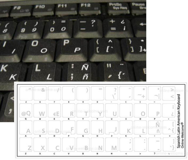 what are latin letters on a keyboard