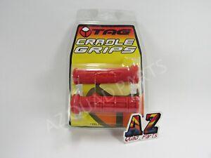 Tag-ATV-Handlebar-Grips-Red-Honda-TRX450R-TRX-450R-400EX-400X-700XX-250EX