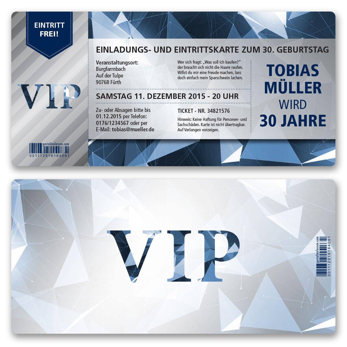 Tarjetas de invitación para el cumpleaños de tarjeta vip ticket invitación noble