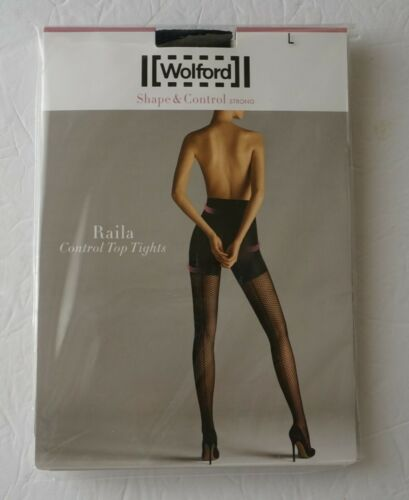 New Wolford Raila Control Top Tights 14593 Black