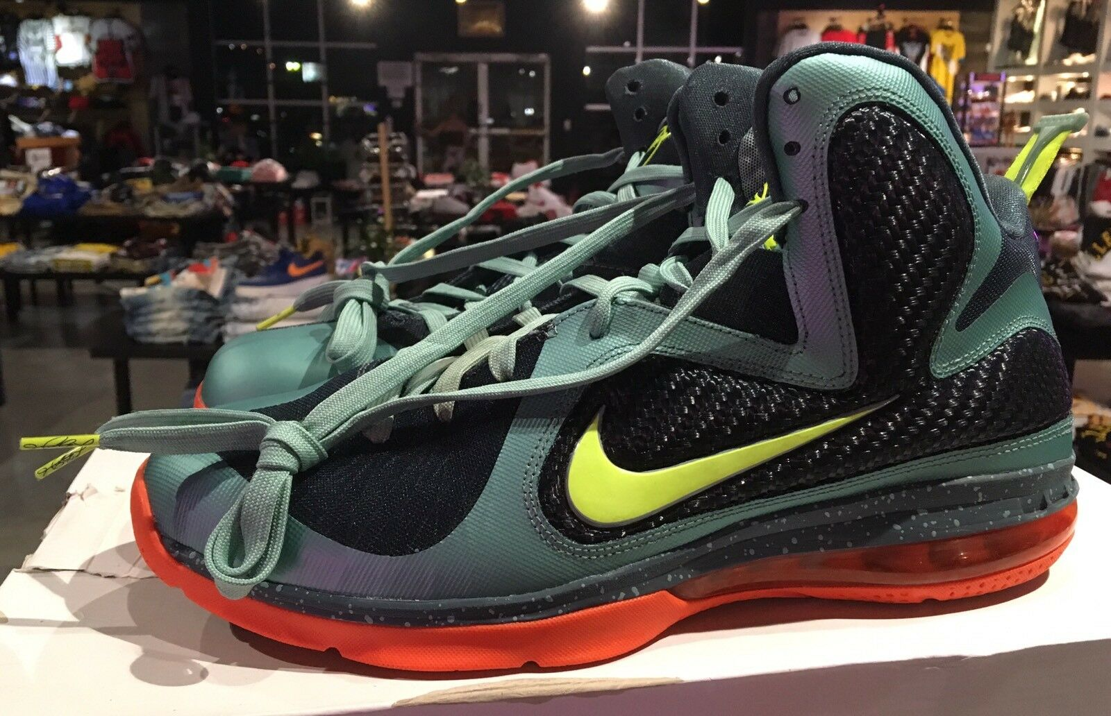 Nike Lebron 9 Cannon In Cannon Grn/Blk/Orng Sz. 11 In 100% Authentic Cheap and beautiful fashion