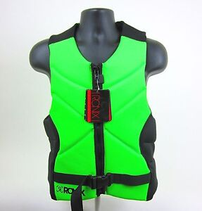 Ronix One Front Zip Wakeboard Mens Comp Life Vest Green