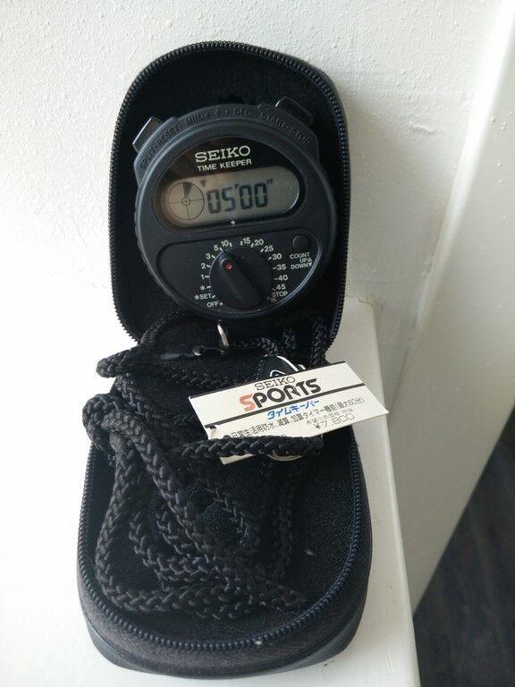 Seiko LCD Digital Quartz Stopwatch Time Keeper S321-4000 Watch (Original Boxes)