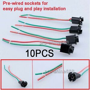 s l300 t10 168 194 w5w 2825 female socket extension wire harness adapter Wire Harness Connector Pigtails at reclaimingppi.co