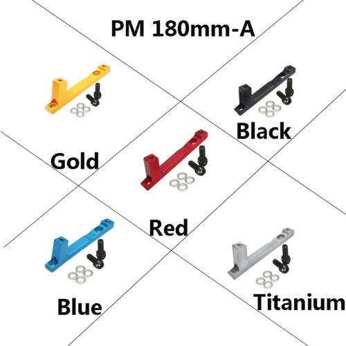 180mm,203mm Post Mount Disc Brake Adapter MTB Bike Front//Rear Caliper Aluminium