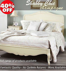 Stunning Shabby Chic Cream Bed French 5ft King Size Bed