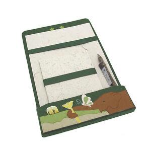 2019 DernièRe Conception Commerce équitable éléphant Dung Ensemble écriture Vert