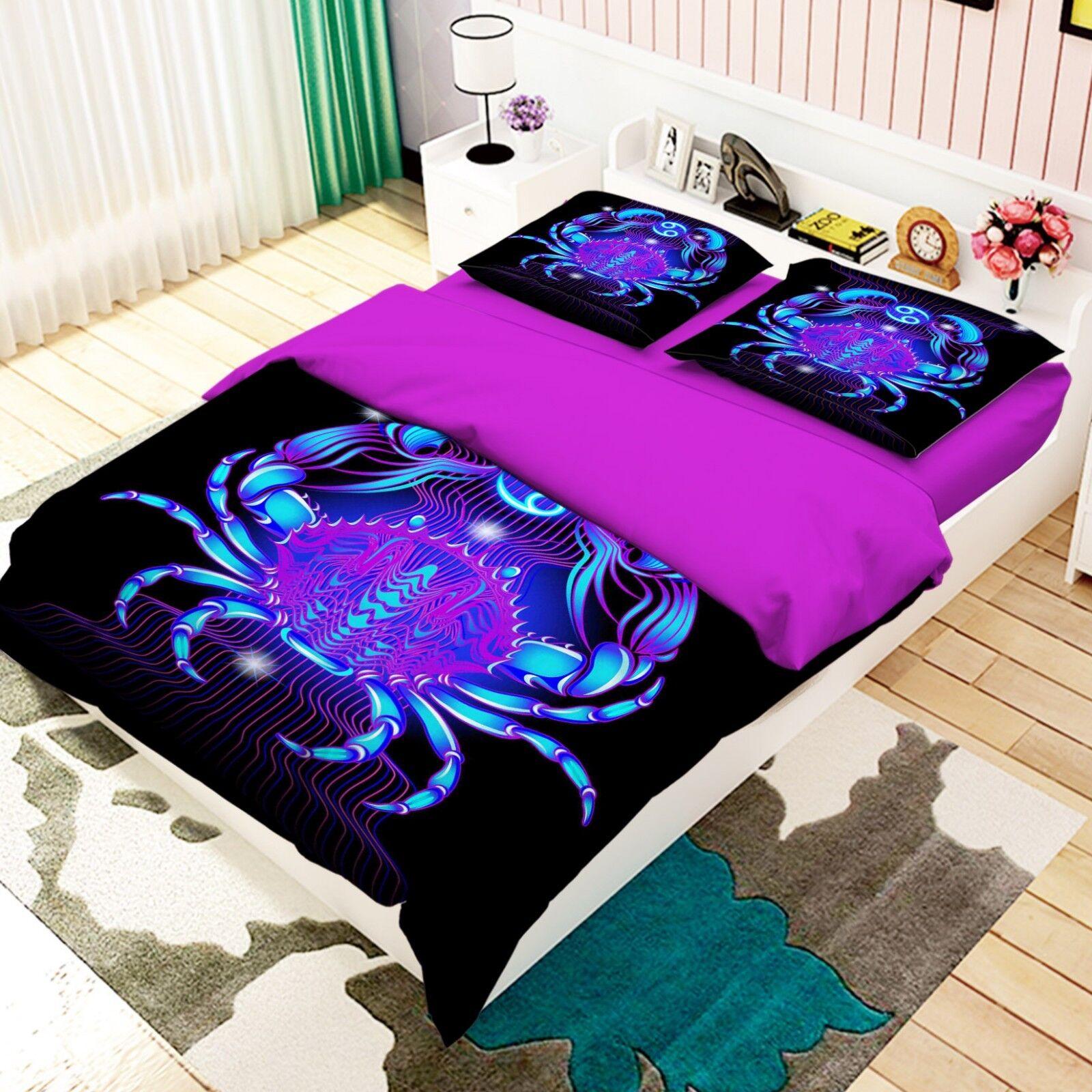 3D Cancer 26 Bed Pillowcases Quilt Duvet Single Queen King US Lemon
