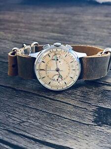 Rare Poljot Strela 3017 Authentic 19 Jewels Mechanical Soviet Chronograph USSR