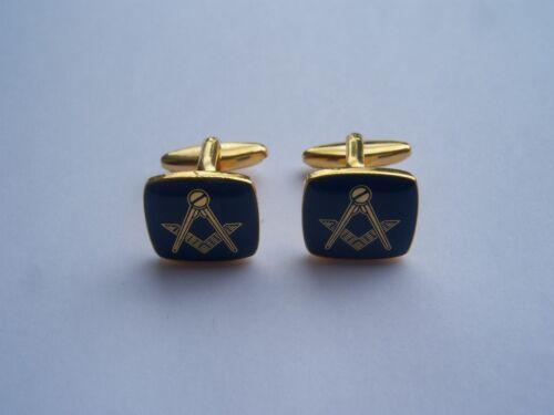 Para Hombre Nuevo Masónica Masons Masones Oro Negro Gemelos