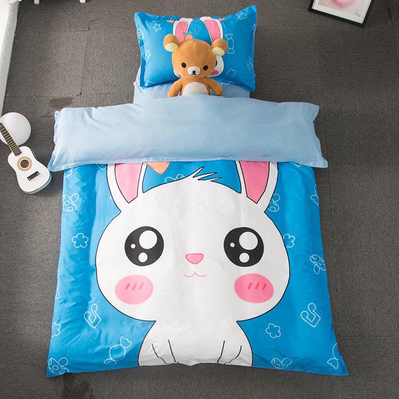 3D Cartoon Rabbit 68 Bed Pillowcases Quilt Duvet Cover Set Single Queen AU Carly