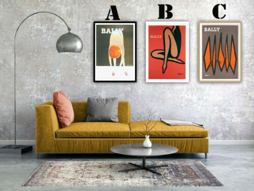 Bally Shoes Vintage Villemot Advertising Art Print Poster Set-Choice of 3 Prints