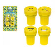 Le icone Stamp Set 4pc Emoji stile Faccina Sorridente Stampers EMOTICON insegnanti FRANCOBOLLI Divertente