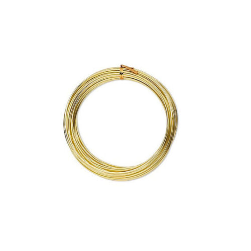 Round Wire Anodized Aluminum Gold 10 to 20 Gauge