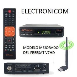 FREESAT-V7S-LISTO-PARA-CONECTAR-Y-VER-CON-3-L1N3AS-Y-LISTA-HD-GTMEDIA-V7S