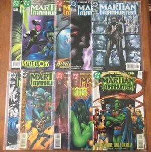 MARTIAN-MANHUNTER-DC-Comics-Lot-10-9-12-16-17-19-21-23-JLA-Superman