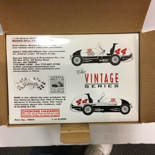 GMP MODEL SPRINT CAR DUKE NALON 1:18 #7644 BOX NOT OPEN 1// 2508 VINTAGE SERIES