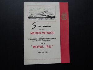 THE-039-ROYAL-IRIS-039-MERSEY-FERRY-SOUVENIR-OF-THE-MAIDEN-VOYAGE-1951-RARE