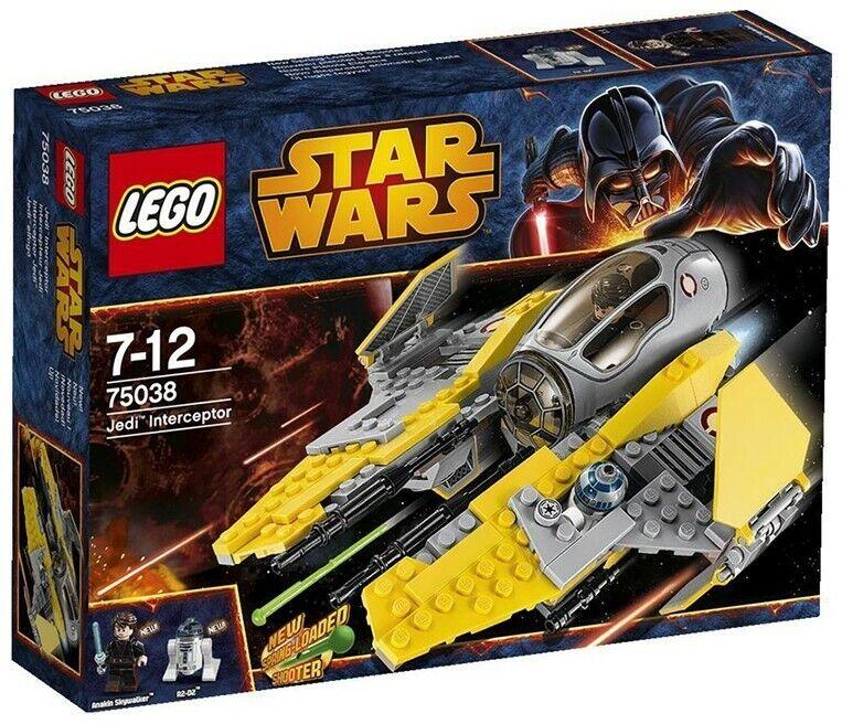 STAR WARS LEGO 75038 Anakin's JEDI INTERCEPTOR 2 Mini-figs Ages 7+ Retired Set