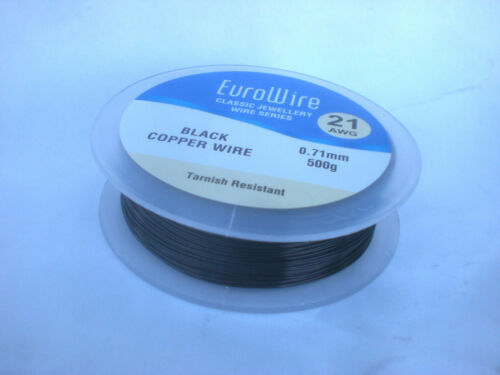 BLACK coloured COPPER WIRE 0.5mm 24 GAUGE  500grams HIGH QUALITY 284meters