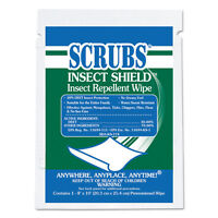 Scrubs Insect Shield Insect Repellent Wipes 8 X 10 White 100/carton 91401 on Sale