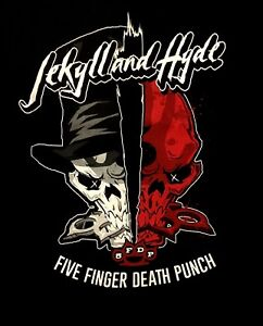 FIVE-FINGER-DEATH-PUNCH-cd-lgo-Got-Your-Six-JEKYLL-amp-HYDE-Official-SHIRT-XL-oop