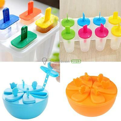 Ice Cream Pop Frozen Mold Popsicle Maker Lolly Icy Pole Mould Tray DIY BEST
