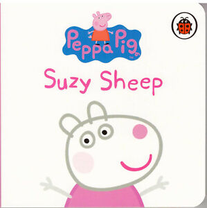 Peppa-Pig-Story-Book-Peppa-039-s-Family-and-Friends-SUZY-SHEEP-Board-Book-NEW