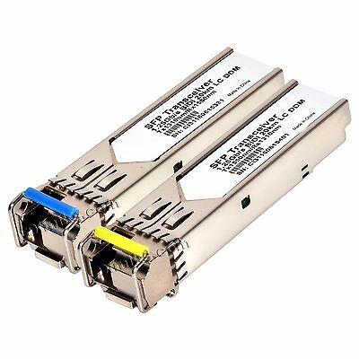 """10 modules 20km WDM BiDi SFP 1G /""""SC/"""" 10 km 10km GLC-BX-U//D A//B Cisco 5pair"""